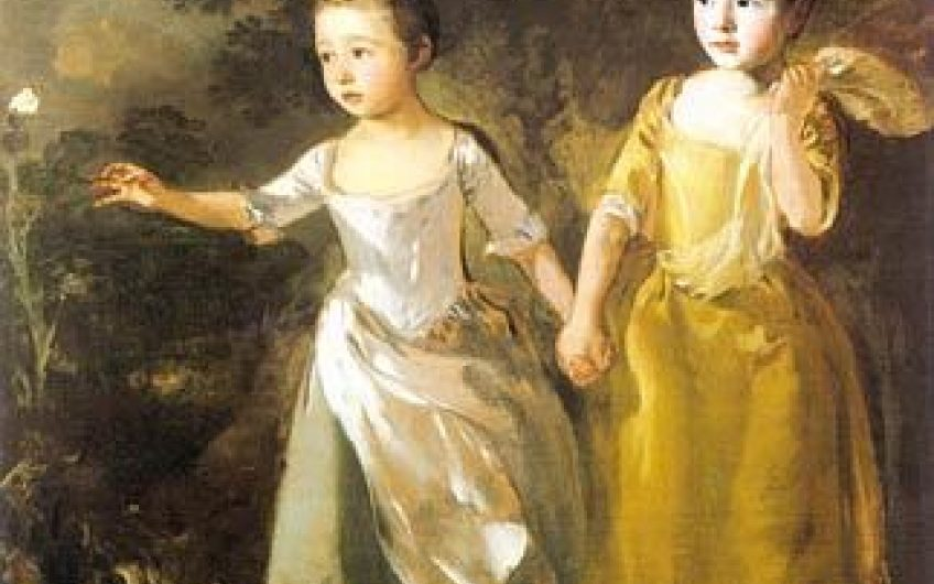 Gainsborough  The Painters Daughters Chasing A Butterfly
