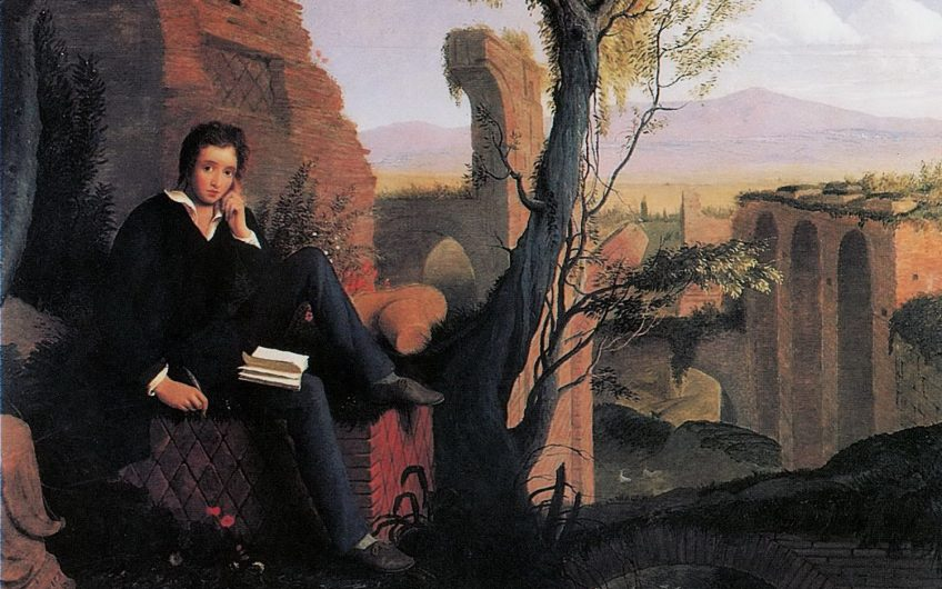 A Joseph Severn  Posthumous Portrait Of Shelley Writing Prometheus Unbound 1845