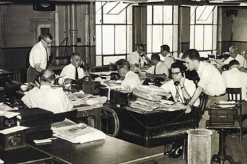 The inner-workings of a 1964 newsroom
