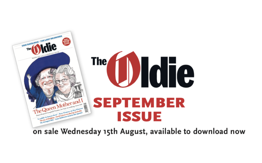 September issue of the Oldie available to download now – one week early!